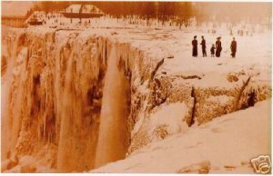 Niagra Falls - early 1900's - almost frozen over