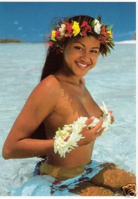 Girls of the South Seas - Topless Tahiti Girl - Card 18
