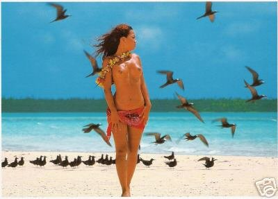 Girls of the South Seas - Topless Tahiti Girl - Card 2