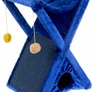 """Pets Scratching post ZooMark """"X"""", blue, 48 x 41 x 74 cm, animals Gift"""