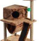 """Pets Play complex for cats """"Murka"""", braun, 60 x 45 x 120 cm, house, scratching post, animals Gift"""