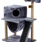 """Pets Play complex for cats """"Murka"""", gray, 60 x 45 x 120 cm, house, scratching post, animals Gift"""