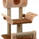 "Pets game complex for cats ZooMark ""Vaska"" braun / light braun, house, scratching post, animals Gift"