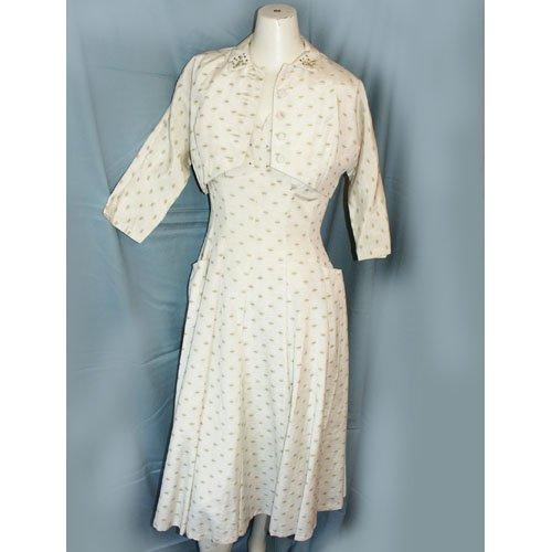 1940's Day Dress with Bolero Jacket