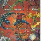"""The Amazing Spider-Man"" Marvel Cards, UNCUT PROMO SHEET (1994, Fleer, 1st Ed.)"