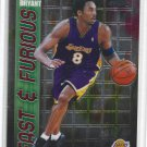Kobe Bryant Fast and Furious #FF06 Insert HOF Lakers