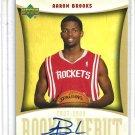 Aaron Brooks #RD-AB Rookie Auto