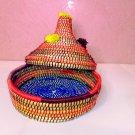 ✅basket handmade-basket natural-storage-Basket palm leaf-panier-easter basket-beautiful
