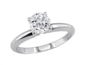 solitaire Gold Diamond Engagement ring