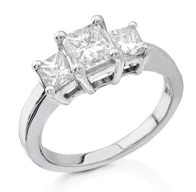 3 stone style Diamond Engagement Ring