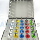 NEW 25 PCS DENTAL IMPLANT CONICAL DRILLS KIT WITH ORGANIZED BOX DENTAL SURGERY INSTRUMENTS BURS CE