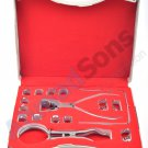 New Rubber Dam Kit Starter of 16 pcs with Frame Punch Clamps Brewer Dental Instruments Lvory Palmer