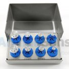 8 Pcs Dental Implant Saw Disk Kit Cutting Rotary tool Latch Type Wheel Discs Set Burs Holders CE