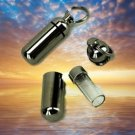 Silver Cremation Urn & Vial - Keychain/Pendant/Locket