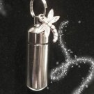 Silver Anointing Oil Holder with Inner Vial and DRAGONFLY Charm