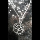 "Eternal Tree of Life / Circle of Life 18"" Silvertone NECKLACE Pendant"