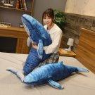 70cm Lovely Blue Whale Plush Toys Cute Animals Big Shark Doll Soft Stuffed Toy