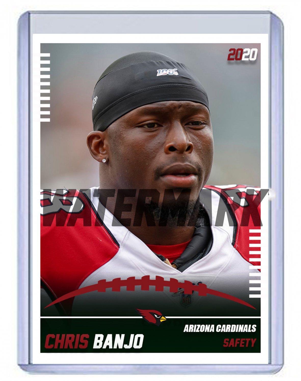 Chris Banjo 2020 Arizona Cardinals custom handmade football card