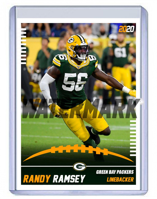 Randy Ramsey 2020 Green Bay Packers custom handmade football card