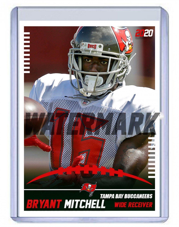 Bryant Mitchell 2020 Tampa Bay Buccaneers custom handmade football card