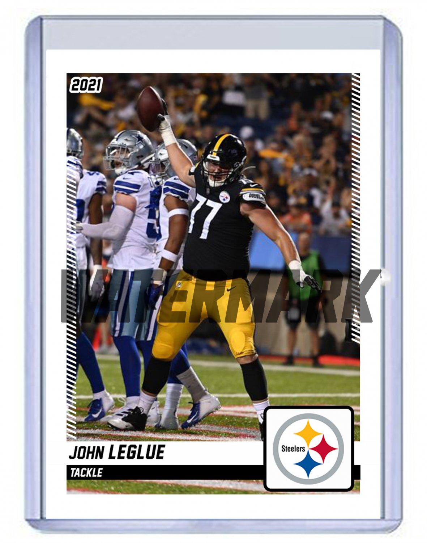 JOHN LEGLUE 2021 PITTSBURGH STEELERS custom football card