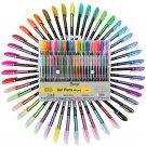 48pcs Gel Pen Set Refills Metallic Pastel Neon Glitter Sketch Drawing Color Pen