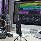 Metal USB Condenser Recording Microphone For Laptop MAC Windows Cardioid Studio