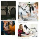 USB PC Condenser Microphone with Adjustable desktop mic arm shock mount for  Stu