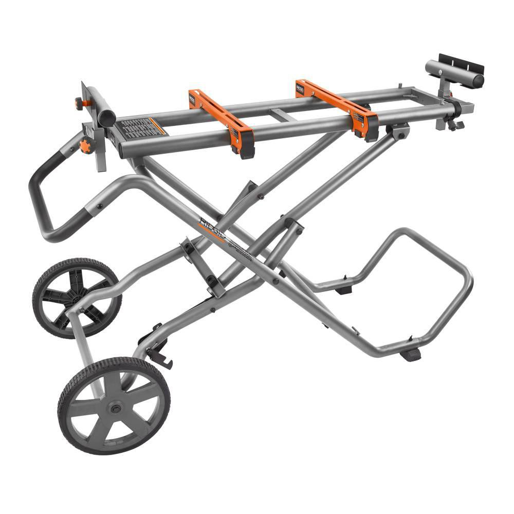 RIDGID AC9946 Universal Mobile Miter Saw Stand with Mounting Braces