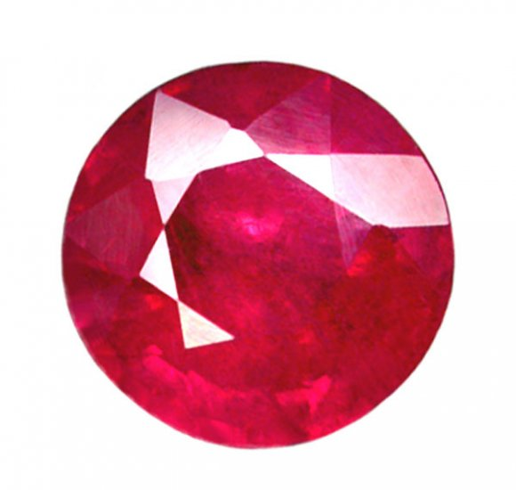 2.43 ct. Ruby, Rich Red, Round Faceted Natural Gemstone