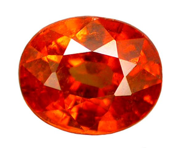 SOLD ? 1.42 ct. Spessartite (Spessartine) Garnet, Orange, Oval Faceted Natural Gemstone