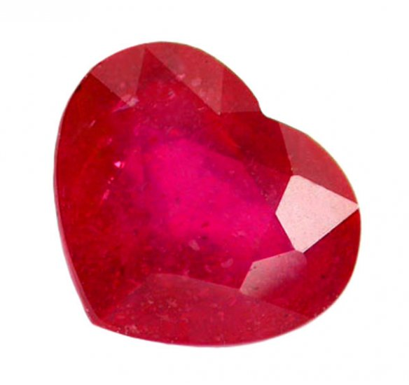1.32 ct. Ruby, Rich Red, Heart Shaped Natural Gemstone