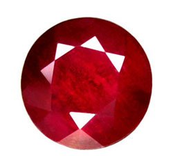 1.58 ct. Ruby, Glowing Rich Red, Round Faceted Natural Gemstone
