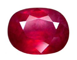 2.08 ct. Ruby, Glowing Rich Red, Oval Faceted Natural Gemstone