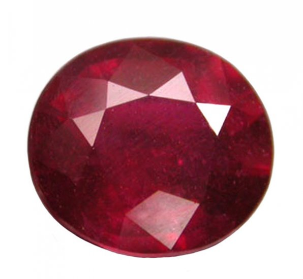 1.45 ct. Ruby, Glowing Rich Red, Oval Faceted Natural Gemstone