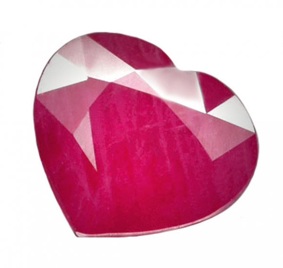 3.33 ct. Ruby, Pinkish Red, Heart Shaped Natural Gemstone