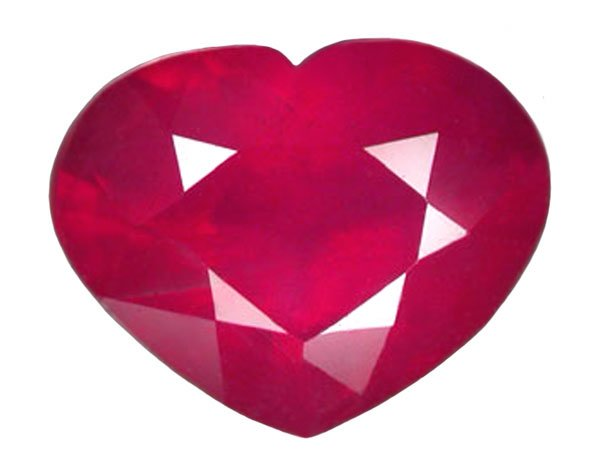 1.62 ct. Ruby, Pinkish Red, Heart Shaped Natural Gemstone, Madagascar