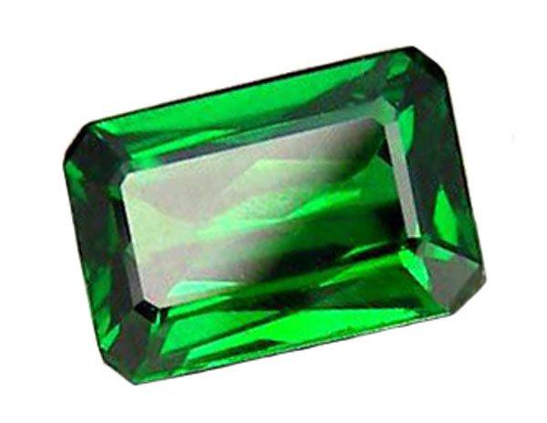 0.56 ct. Tsavorite Garnet, Top Chrome Green, Octagon Faceted Untreated Natural Gemstone