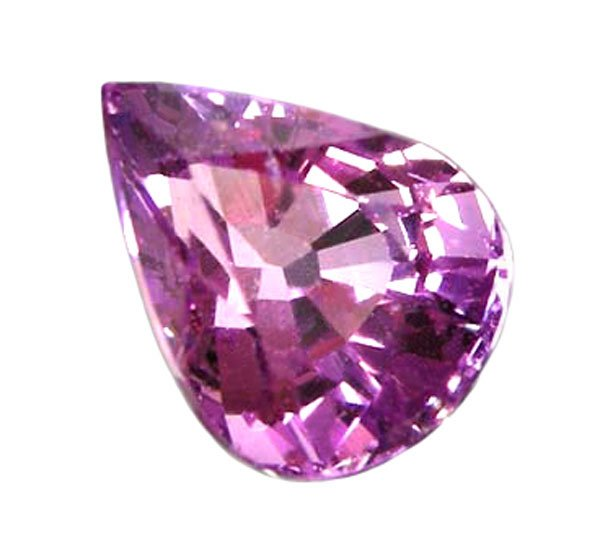 SOLD 1.16 ct. Sapphire, Intense Violet Pink, Pear (Tear Drop) Faceted Natural Gemstone, Ceylon