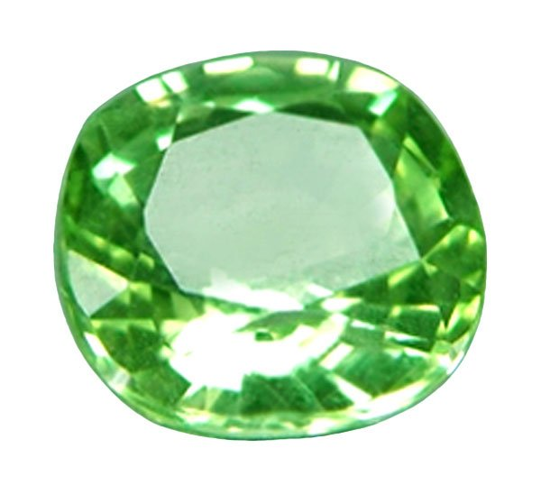 sold 1.04 ct. Merelani Mint Garnet, Nearly Flawless Electric Green Cushion