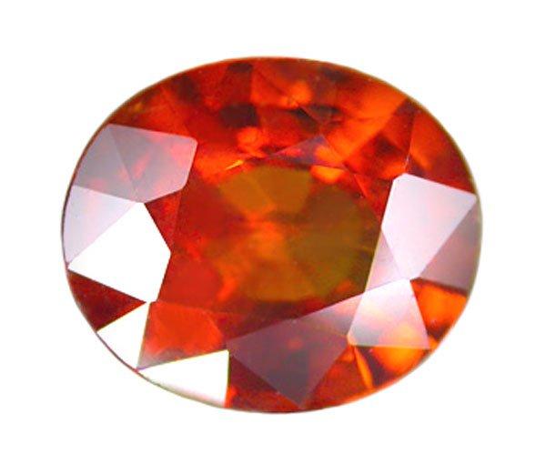 1.49 ct. Spessartite Garnet, VVS, Orange Padparadscha, Oval Faceted Natural Gemstone