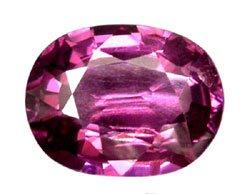 3.94 ct. Rhodolite Garnet, VVS Pink Purple, Oval Faceted Untreated Natural Gemstone