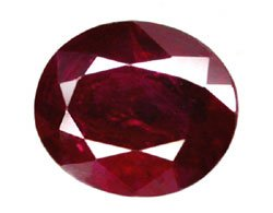 0.90 ct. Ruby, Pigeon Blood Red, Oval Faceted Natural Gemstone