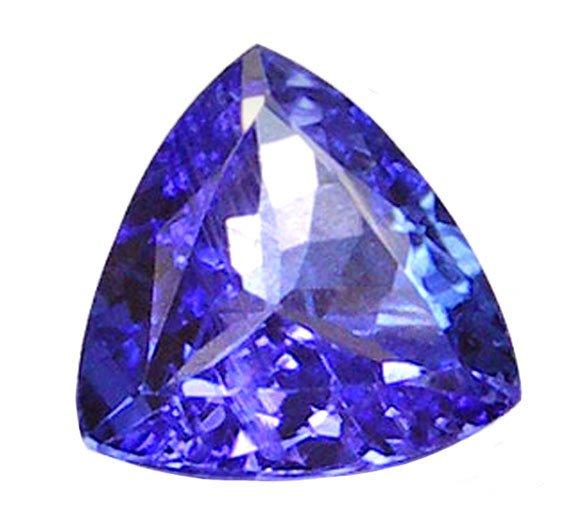 SOLD 0.70 ct. Tanzanite, VVS1, 6x6, Purplish Blue, Trillion/Trilliant Faceted Natural Gemstone