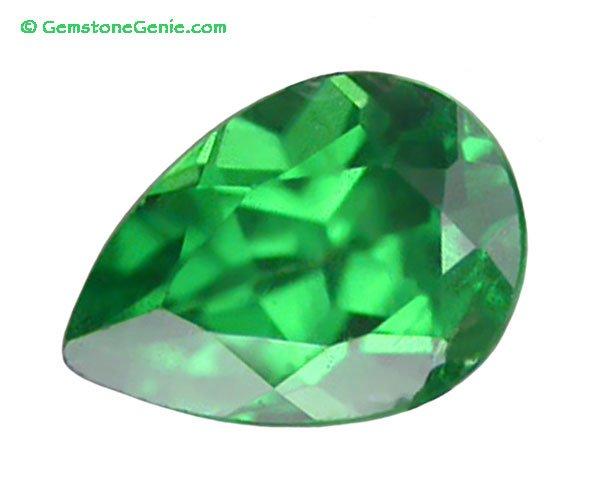 0.39 ct. Tsavorite Garnet, Intense Green, VVS1 Pear Faceted Natural Gemstone