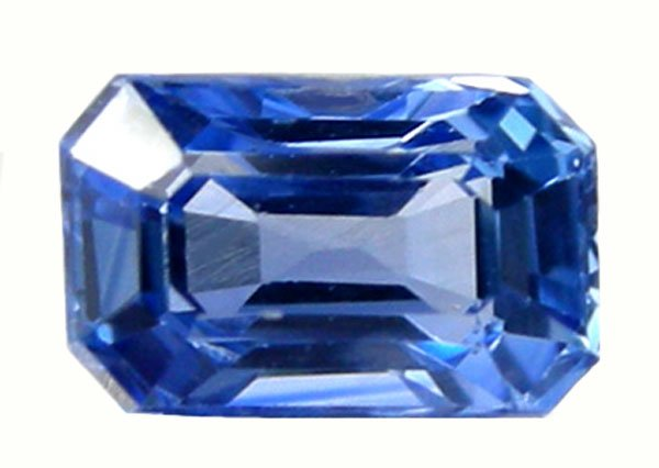 0.61 ct. Sapphire, Blue, Emerald Faceted Natural Gemstone, Ceylon
