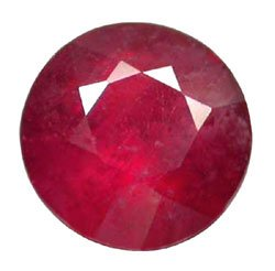 1.48 ct. Ruby, Rich Red, Round Facet Natural Gemstone