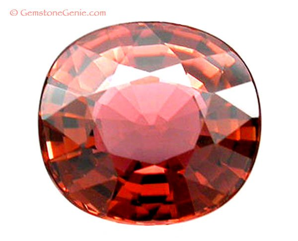 2.85 ct. Tourmaline, Flawless (IF), Orange/Pink - Padparadscha/Lotus Blossom, Oval Facet Natural Gem
