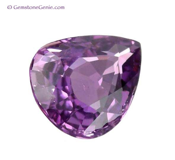1.05 ct. Sapphire, Rich Violet Pink, Pear (Tear Drop) Faceted Natural Gemstone, Ceylon