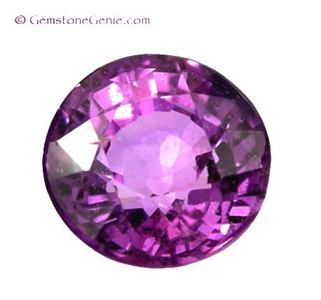 1.02 ct. Sapphire, Pink Purple, Round Faceted Natural Gemstone, Ceylon